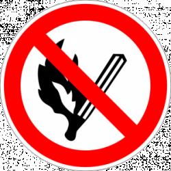"""Знак """"Забранено е паленето на огън"""""""