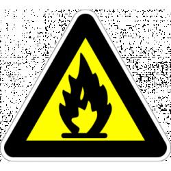"Знак ""Лесно запалим материал"""