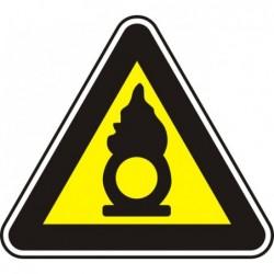 """Знак """"Поддържащ горенето материал"""""""